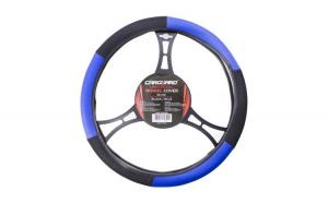 CARGUARD - Husa volan auto - negru / albastru