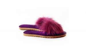 Papuci de casa, EHA, culoare Mov, 36