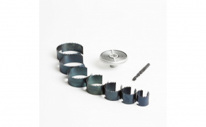 Set de decupare pt. alezaje circulare - 7 buc. panze de taiere - 25-62 mm