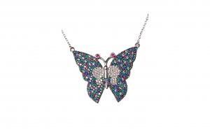 Lant cu pandantiv-fluture din Argint