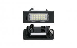 Set lampi LED numar BMW E82 E60 E61 E90 X1 X3 X5 X6 dedicate Alb Xenon