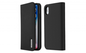 Husa Bookcase DUX DUCIS Wish Genuine Leather iPhone XS Max black