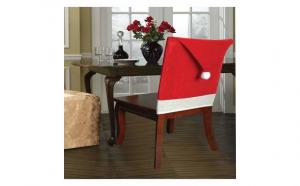 Decoratiune de Craciun pentru scaun - husa în forma de caciulita