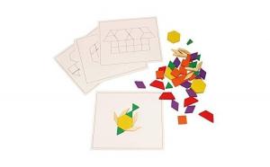 Puzzle Tangram din lemn - 125 piese