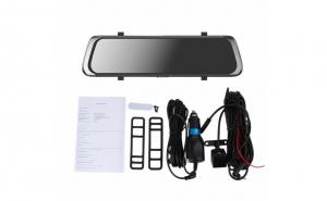 Camera video auto FullHD, dubla, tip oglinda, display 10 inchi