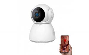 Baby Monitor Wireless Q9, Rezolutie HD 1920 x 1080P, WiFi, Functia Night Vision, Aplicatie Telefon, Smartic  , alb