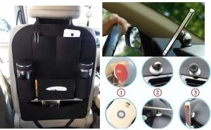 Organizator auto + Suport pentru mobil cu magnet
