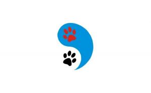Sticker cu labute Ying&Yang