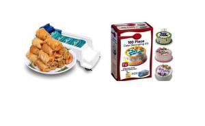 Set 2 aparate ideale in orice bucatarie: Aparat de facut sarmale + Kit decorare prajituri 100 piese