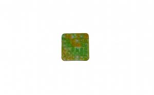 Jucarie senzoriala din silicon, antistres, POP IT! verde, galben, alb - patrat KATHODE