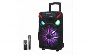 Boxa portabila tip troler Lige 1717, 250 W, USB, telecomanda, microfon