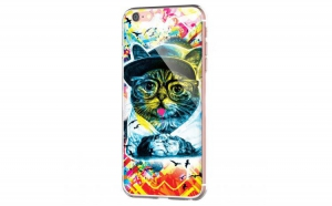 Husa plastic iPhone 6 - Hipster Meow
