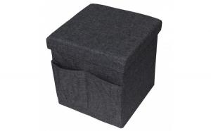 Taburet din material textil cu  buzunare