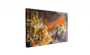 Tablou Canvas The Death of Pompeii, 60 x 90 cm, 100% Bumbac