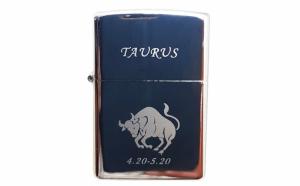 Bricheta metalica gravata zodie Taur. Taurus zodiac + cadou