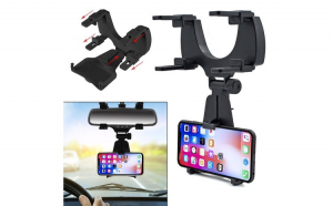 Suport de telefon cu prindere pe oglinda retrovizoare
