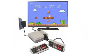Consola jocuri retro, mini, 620 de jocuri, AV, gri
