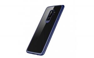 Husa Huawei P20 Pro Flippy Transparent cu Margini Albastre