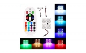 Placa LED RGB 50X48MM. CU TELECOMANDA - 36 SMD 5050 RGB 12V (pret/set)