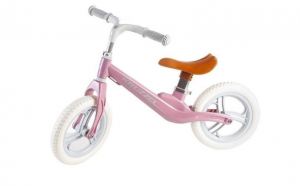 Bicicleta fara pedale Kruzzel, otel carbon, 12 inch, 1 an+, Roz