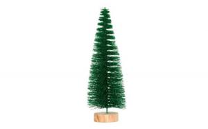 Pom decorativ de Crăciun Verde Glitter 24 cm