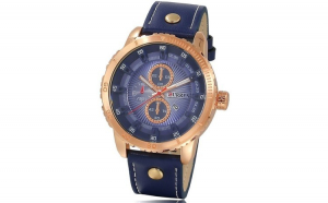 Ceas Barbatesc Curren Blue Gold