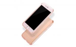 Husa Apple iPhone 6/6S Plus Flippy Full Tpu 360 Roz Auriu