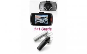 Camera video auto, martor in trafic + Casti Bluetooth