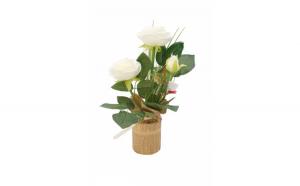 Trandafir artificial in ghiveci,