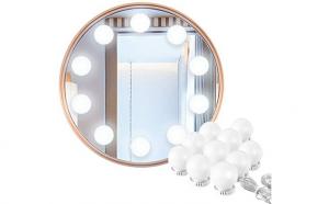 Kit 10 Becuri LED Vanity,pentru oglinda de machiaj ,10 moduri de Luminozitate reglabilă și 3 moduri de iluminare a culorilor