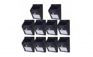 Set 10 Lampi Solare, portabile, cu senzor, 30 LED