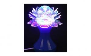 Lampa rotativa disco cu led, lotus