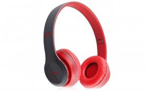 Casti Wireless P47 - Microfon, Radio, Slot SD