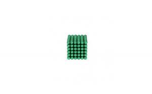 Joc puzzle antistres NeoCube cu 216 bile magnetice, 3mm verde