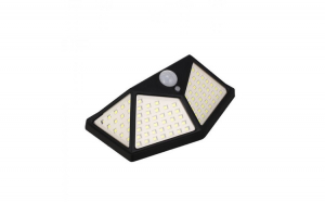 Lampa solara senzor de miscare 100 x Led Reflection Vision, 600LM, 120 Grade, Baterie 1800 mAh
