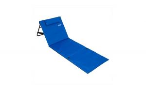 Covoras plaja cu spatar si buzunar Pliabil Albastru 158 x 56 cm