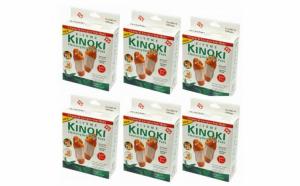 Set 50 plasturi detoxifiere Kinoki + Cadou sosete terapeutice