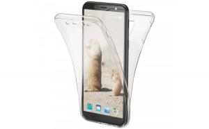 Husa Full TPU 360 fata + spate Samsung Galaxy A6 (2018)  Transparent
