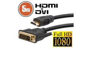 Cablu DVI-D / HDMI • 5 mcu conectoare