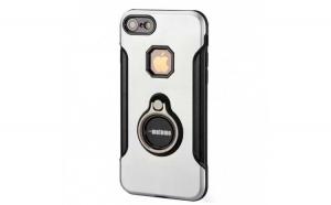 Husa Apple iPhone 7 Plus Motomo Ring Argintiu