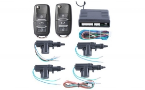 Modul inchidere centralizata cu 2 telecomenzi cu functie si 4 actuatori comanda