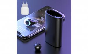Casca wireless touch cu bricheta