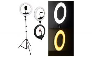 Lampa circulara cu USB pentru fotografii