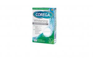 Tablete de curatare pentru proteza dentara Corega Whitening, 30 buc