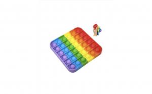 Jucarie Push Pop Bubble Fidget, Pop It, patrata, multicolora