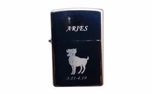 Bricheta metalica gravata zodie Berbec. Aries zodiac + cadou