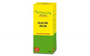 Ulei de ricin Vitalia Pharma, 40 ml