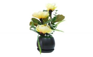 Flori decorative in ghiveci, galben, 40