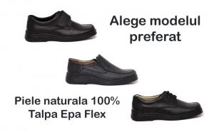 Pantofi din piele, talpa Epa, Alerta meteo: Ploua cu reduceri!