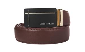 Curea barbati din piele Adrien Marazzi AM-2602 - maro cu auriu